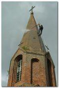 usuwanie skażenia biologicznego cegły zabytkowe wieży kościelnej